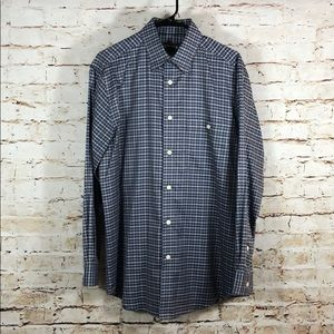Orvis Mens Plaid Button Down Dress Shirt